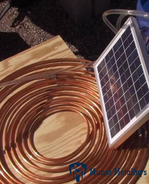 Copper Alloy Tube Solar Panels